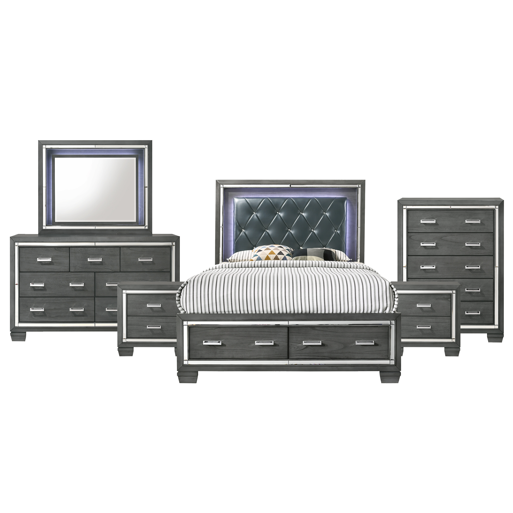 Picket House Furnishings Kenzie Queen Storage 6 Piece Bedroom Set