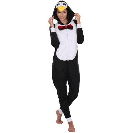 Animal Women's Adult Onesie Pajama Costume Cosplay, Penguin, Size: S - Next Womens Onesie