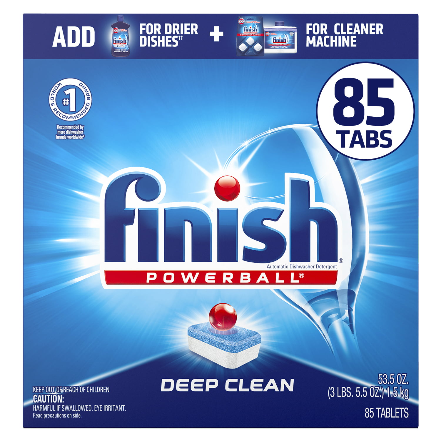 Finish All in 1 Powerball 85ct, Deep Clean, Fresh Scent, Dishwasher Detergent Tablets - Walmart.com