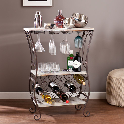 Verona Wine Storage Table, Grey