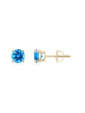 c4ac661a8 Product Image Mother's Day Jewelry Sale - Basket-Set Round Swiss Blue Topaz  Studs in 14K Yellow