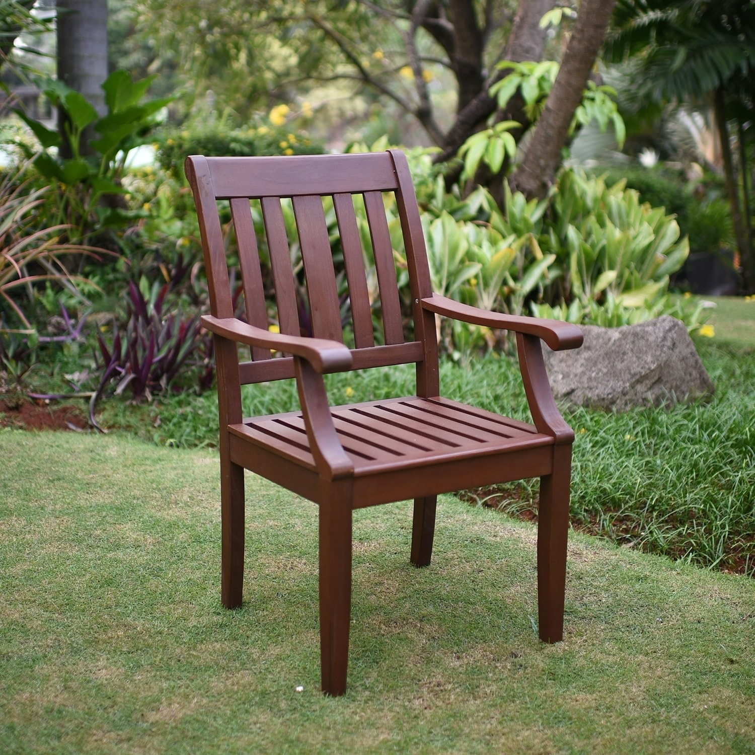 Cambridge Casual  Como Mohagany Outdoor Dining Arm Chair