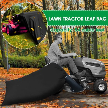 400 Gallons Lawn Tractor Leaf Bag Reusable Collecting Leaves Waste Bag Rubbish Bag Riding Mower Grass Sweeper Garden Outdoor