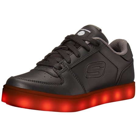 Skechers Kids Boys Energy Lights Elate Sneaker, Black ()
