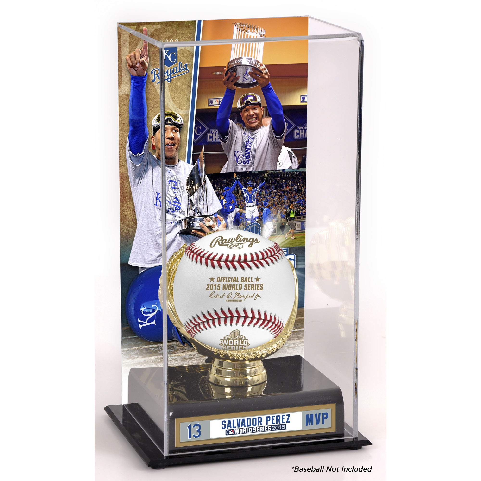 Salvador Perez Kansas City Royals Fanatics Authentic 2015 MLB World Series Champions World Series MVP Gold Glove Display Case with Image - No Size