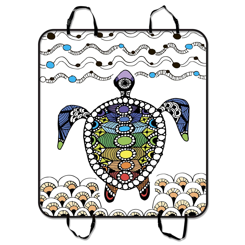 YKCG Bohemian Stripes Sea Turtle Ornate Pet Seat Cover Ca...
