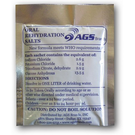 Oral Rehydration Salts - Current WHO Formula, New Formula: Reduced osmolarity ORS grams /litre By Medique