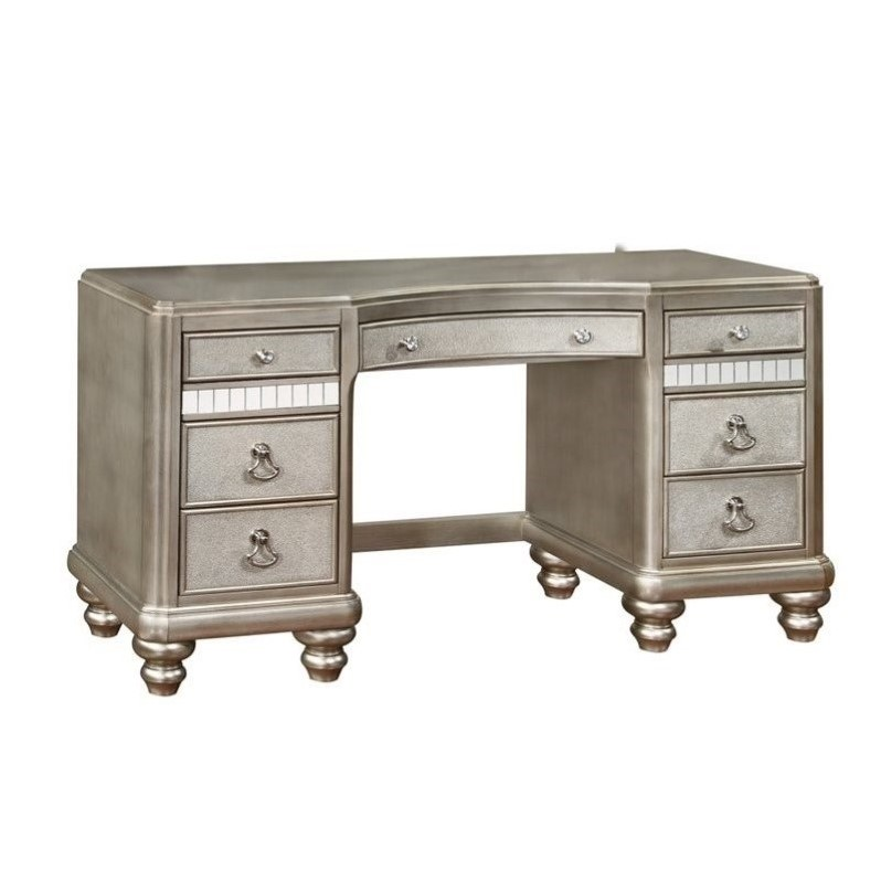 Coaster Company Bling Game Vanity Desk, Metallic Platinum by Coaster Company
