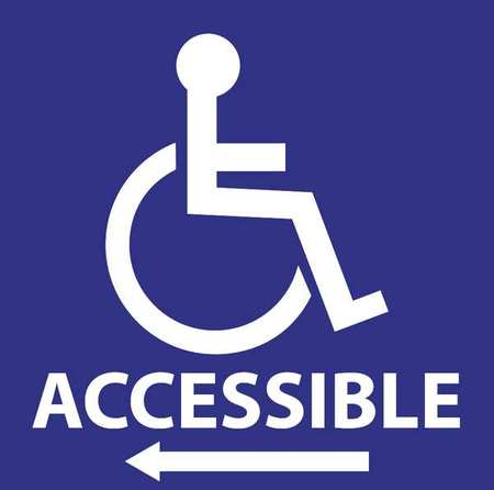 "Handicap Window Decals, Zing, 2719, 6""Hx6""W"