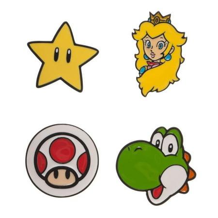 NINTENDO Super Mario Bros Characters Lapel Pin Set