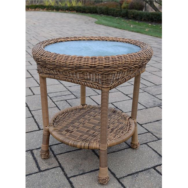 Oakland Living 90027-ET-NT 21 ft. Resin Wicker End Table by Oakland Living Corporation