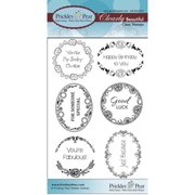 Prickley Pear Rubber Stamp Set-Scalloped Circle/Oval - 5