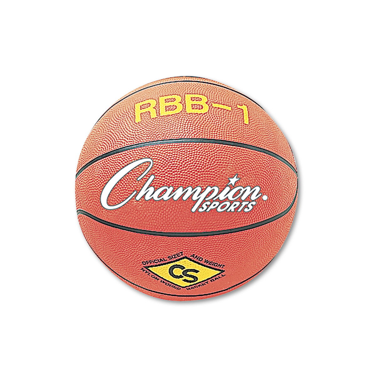 Champion Sport, CSIRBB1, s Pro Rubber Basketball, 1 Each, Orange,Blue,Green,Purple,Red,Yellow by CHAMPION SPORT