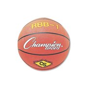 Champion Sports Rubber Sports Ball, For Basketball, No. 7, Official Size, Orange by CHAMPION SPORT