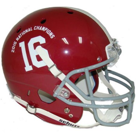 Athlon CTBL-017863 Alabama Crimson Tide Unsigned Schutt No.16 Replica Helmet 2015 National Champions Logo - Full Size