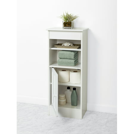 White Bathroom Furniture - Zenna Home Linen Stand, White
