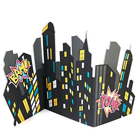 Superhero Girl Party Supplies - City Scape Standup - Super Hero Supplies