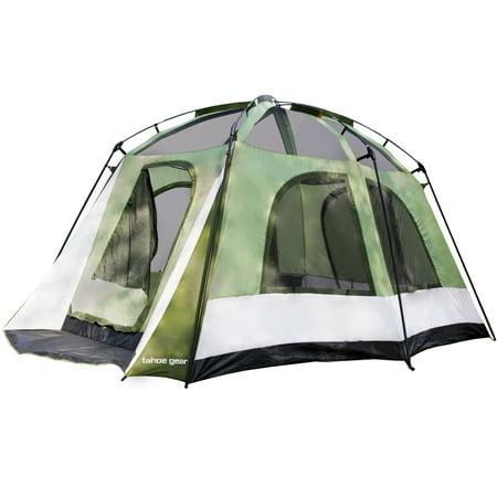 Tahoe Gear Jasper 7 Person Family Cabin Dome Outdoor Camping Tent, (White Cabin)