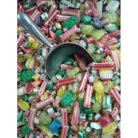 Hard Candy Fruit and Mint Mix 1 pound unwrapped hard candy - Halloween Candy Unwrapped