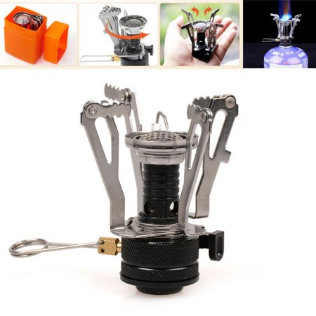 iClover Ultralight Portable Outdoor Backpacking Camping Stoves with Piezo Ignition,Butane/Butane Propane Canister Compatible ()