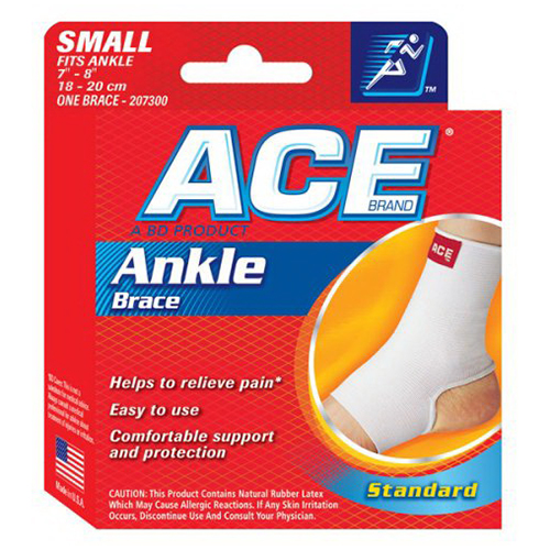 Ace Ankle Brace Of Size: 7 - 8 Inches, Small, #7300 - 1 Ea