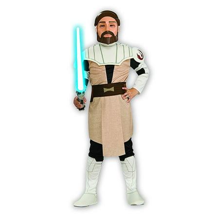 Star Wars Obi-Wan Kenobi Child's Costume, Medium, Classic Obi-Wan Kenobi costume comes with printed tunic, pants, mask, and belt By Rubie's