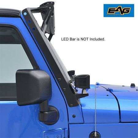 EAG 07-18 Jeep Wrangler JK Steel Windshield Mounting Brackets for 52