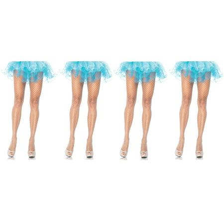 Leg Avenue Women's Plus-Size Industrial Net Pantyhose, White, 1X-2X, (Men's Pair Costumes)