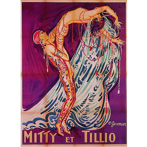 "Trademark Fine Art ""Mitty et Tillio"" Canvas Art by Paul Colin"