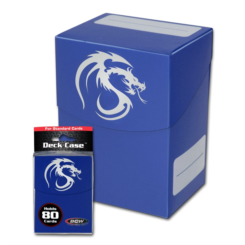 BCW Deck Case - Blue (80 Card Capacity)