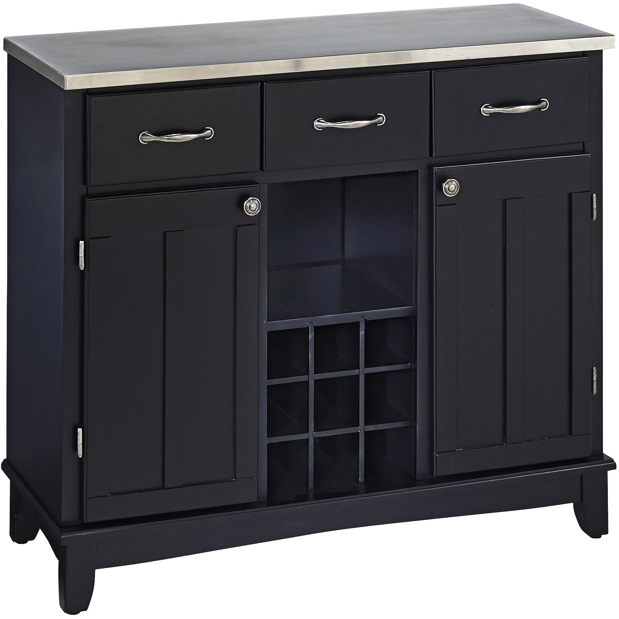 Home Styles Furniture Large Steel Top Buffet in Black by HomeStyles