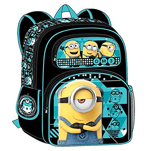 Despicable Me Minions 3D Blue 16 Inches Backpack
