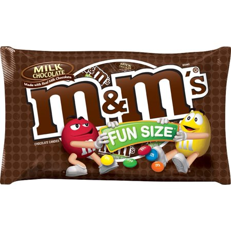 Marzipan Halloween Treats ((4 Pack) M&M's, Fun Size Milk Chocolate Halloween Candy, 10.53)