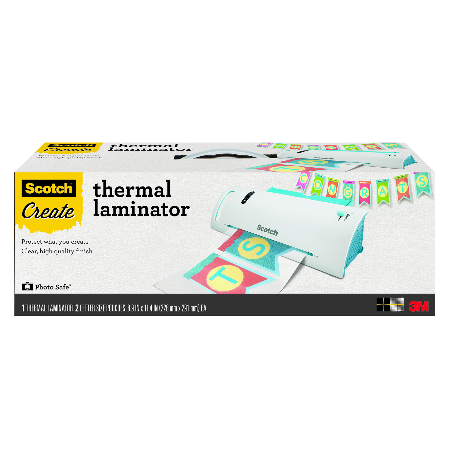 Scotch Craft Thermal Laminator Plus Letter Size Pouches, 3 Count
