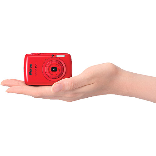 Nikon Red COOLPIX S01 Digital Camera with 10.1 Megapixels and 3x Optical Zoom