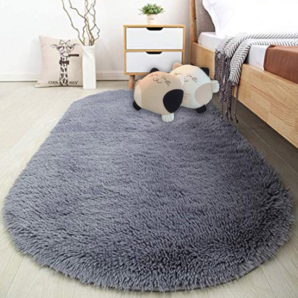 nk 314 x 649 super soft oval area rugs silky smooth