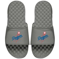 Los Angeles Dodgers ISlide Youth Primary Logo Slide Sandals - Gray