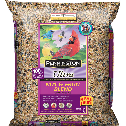 Pennington Ultra Fruit & Nut Blend Wild Bird Feed, 6 lbs