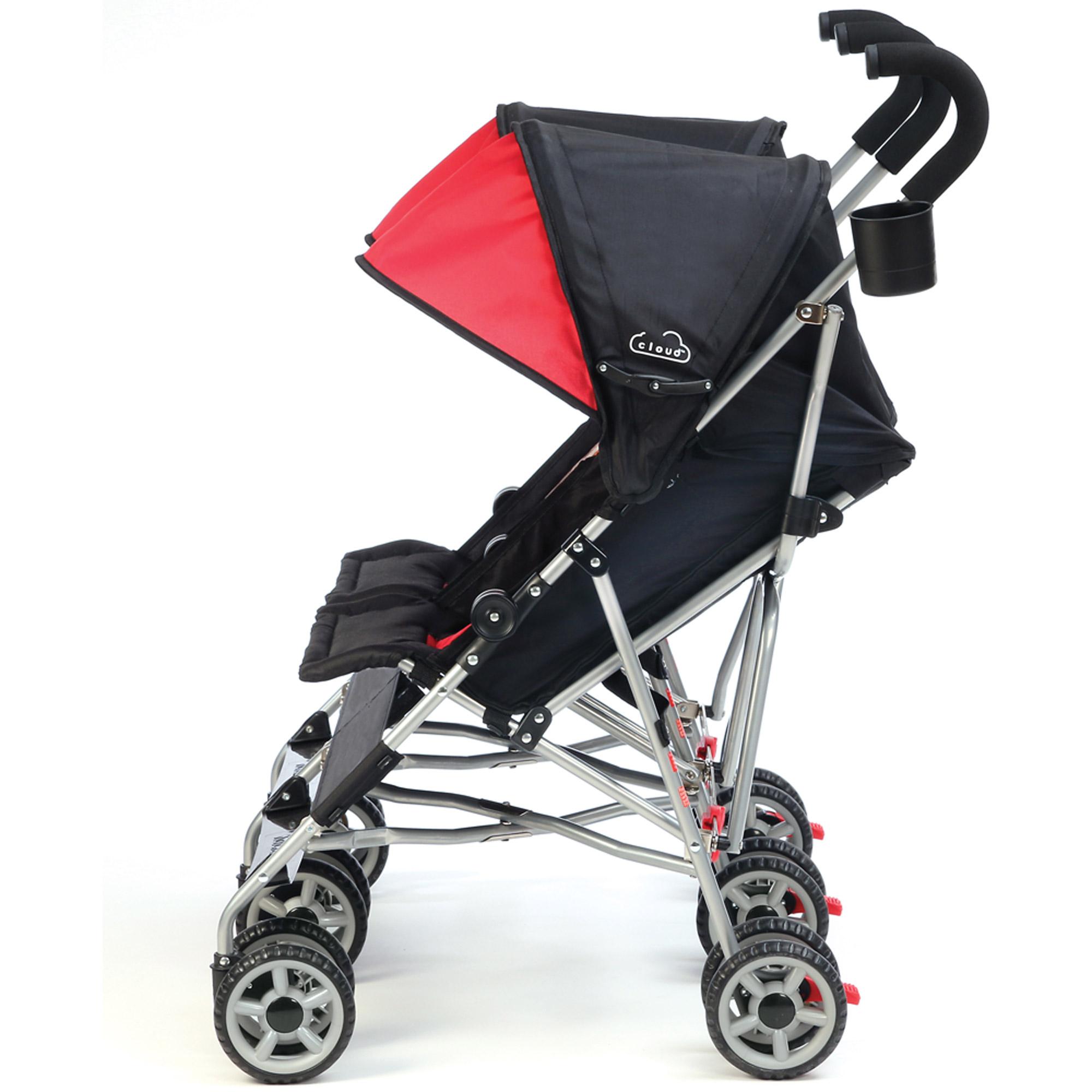 Kolcraft Cloud Double Umbrella Stroller Scarlett Red