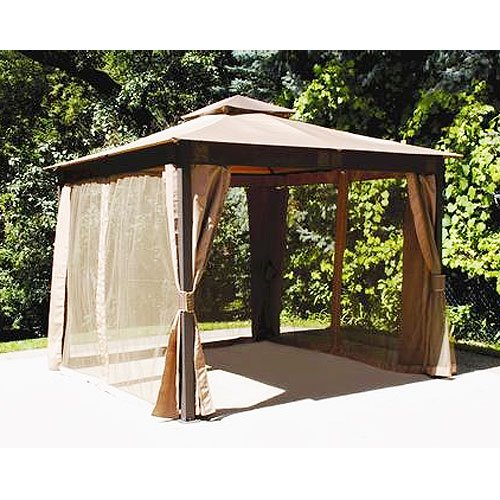 Garden Winds Replacement Canopy Top And Side Mosquito Netting Set For Menards 10 X Gazebo
