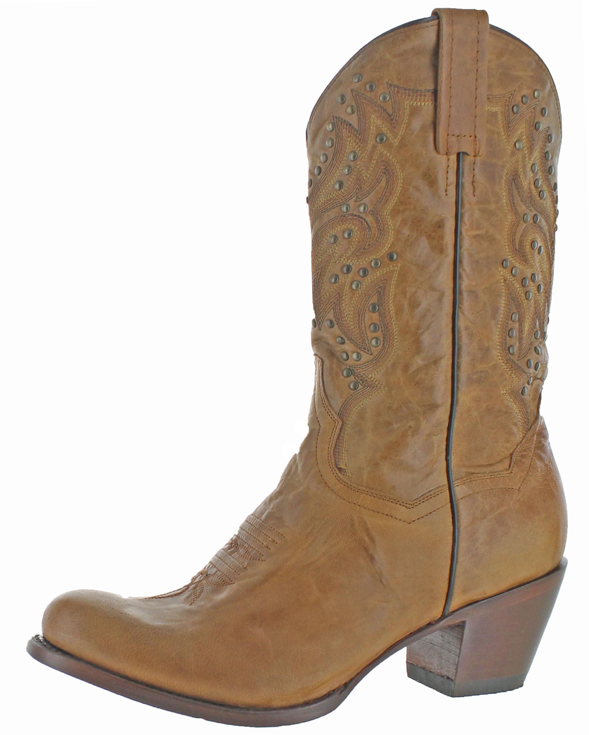 "Dan Post Western Boots Womens 11"" DP3515 Melba Cowboy Heel Brown DP3515 11"" 2065e4"