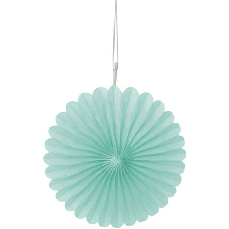 Tissue Paper Fan Decorations, 6 in, Mint Green, - Mint Green Wedding Decorations