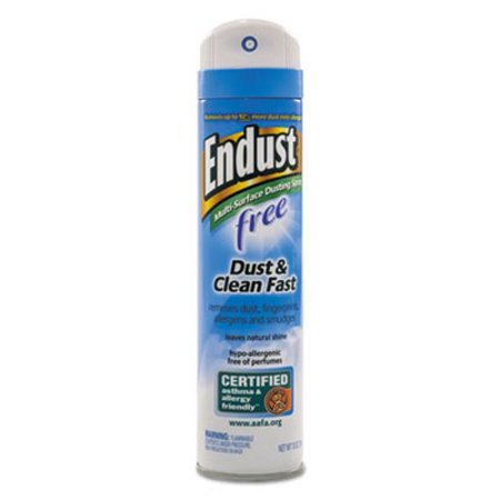 Diversey Endust Free Hypo-Allergenic Dusting and Cleaning Spray, 10 oz Aerosol, 6/CT -