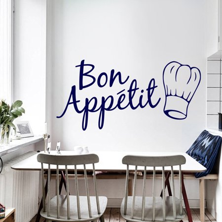 Electronicheart Bon Appetit Kitchen Wall Sticker Art Quote Wall Decal Kitchen Dining Room Restaurant Decor - image 2 of 6