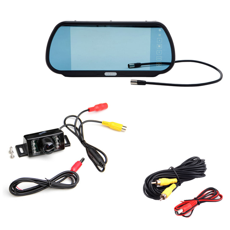 "7"" LCD Backup Rear View Monitor with IR Parking Reverse Camera Kit"