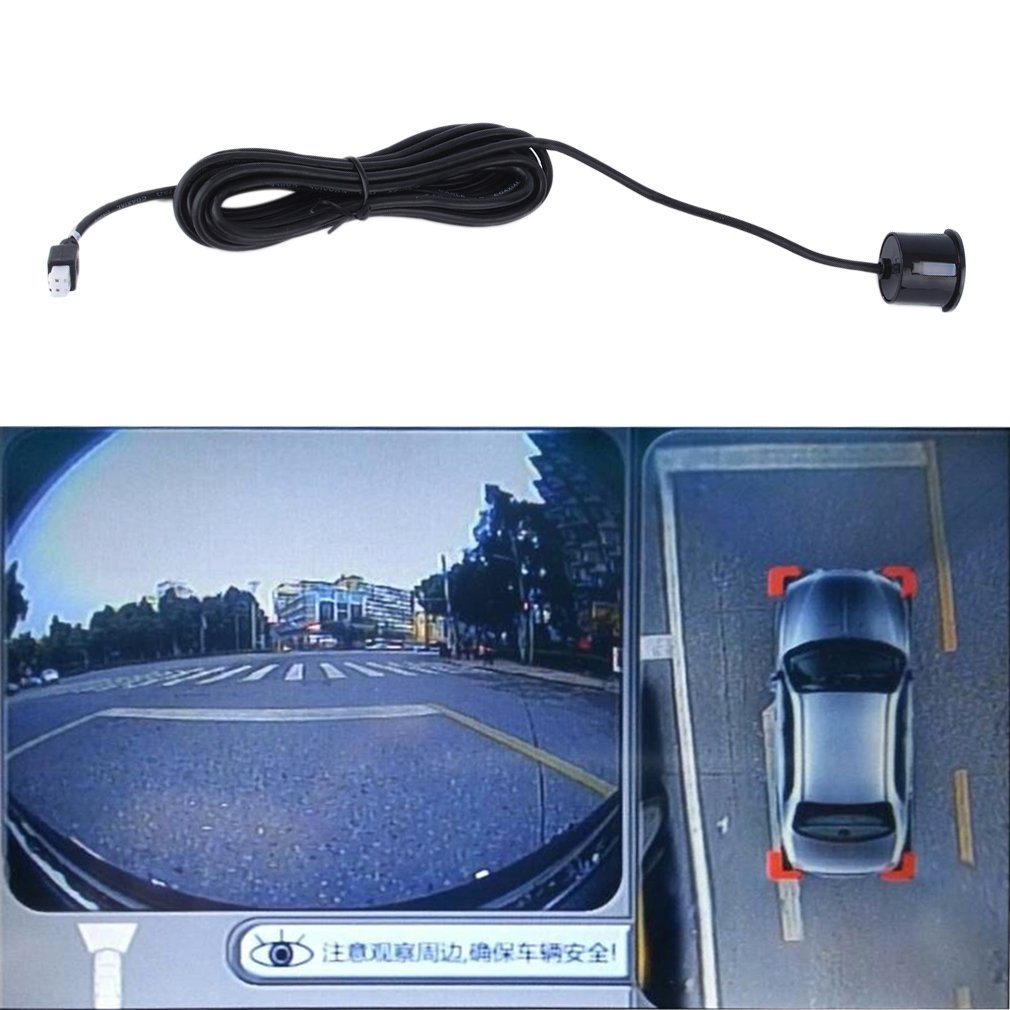 CNMODLE Universal LED Parking Sensor Kit 4 Sensors Vehicle Car Reversing Radar System