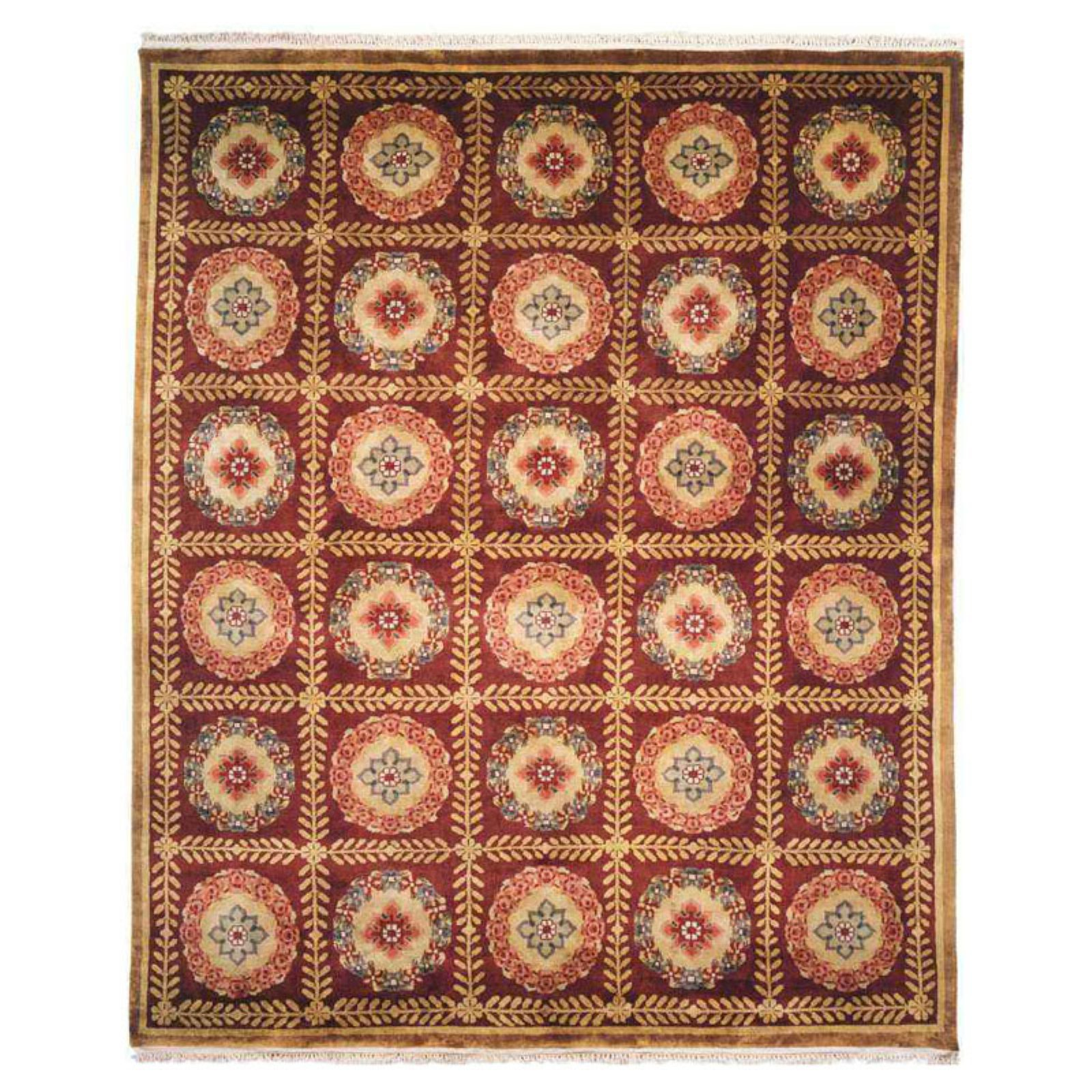 K2 Floor Style Chantal Red Hand Made Wool Area Rug