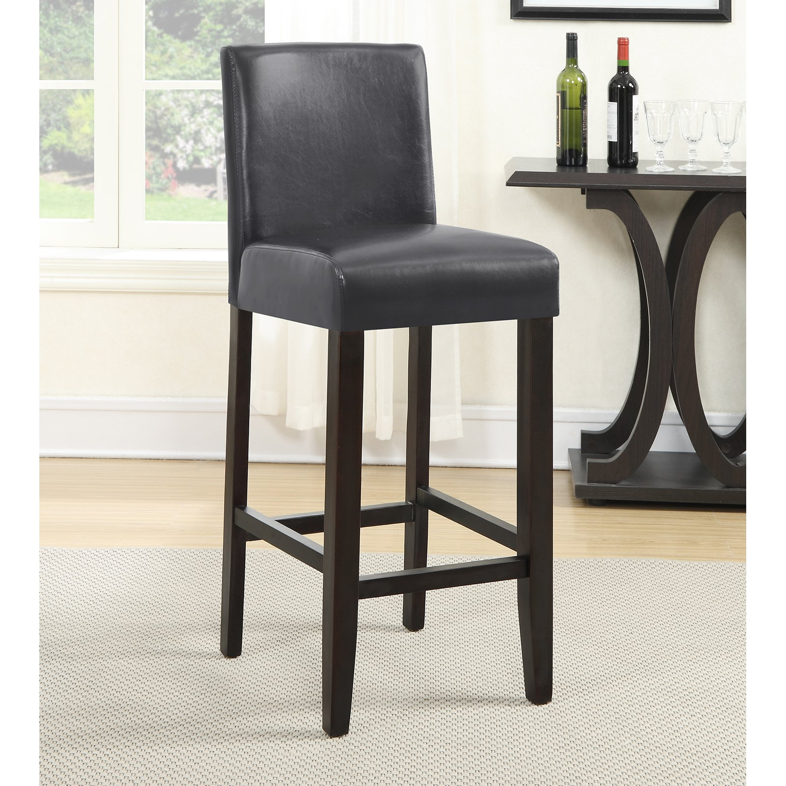 Roundhill Citylight Bar Height Barstool Set of 2, Multiple Colors Available