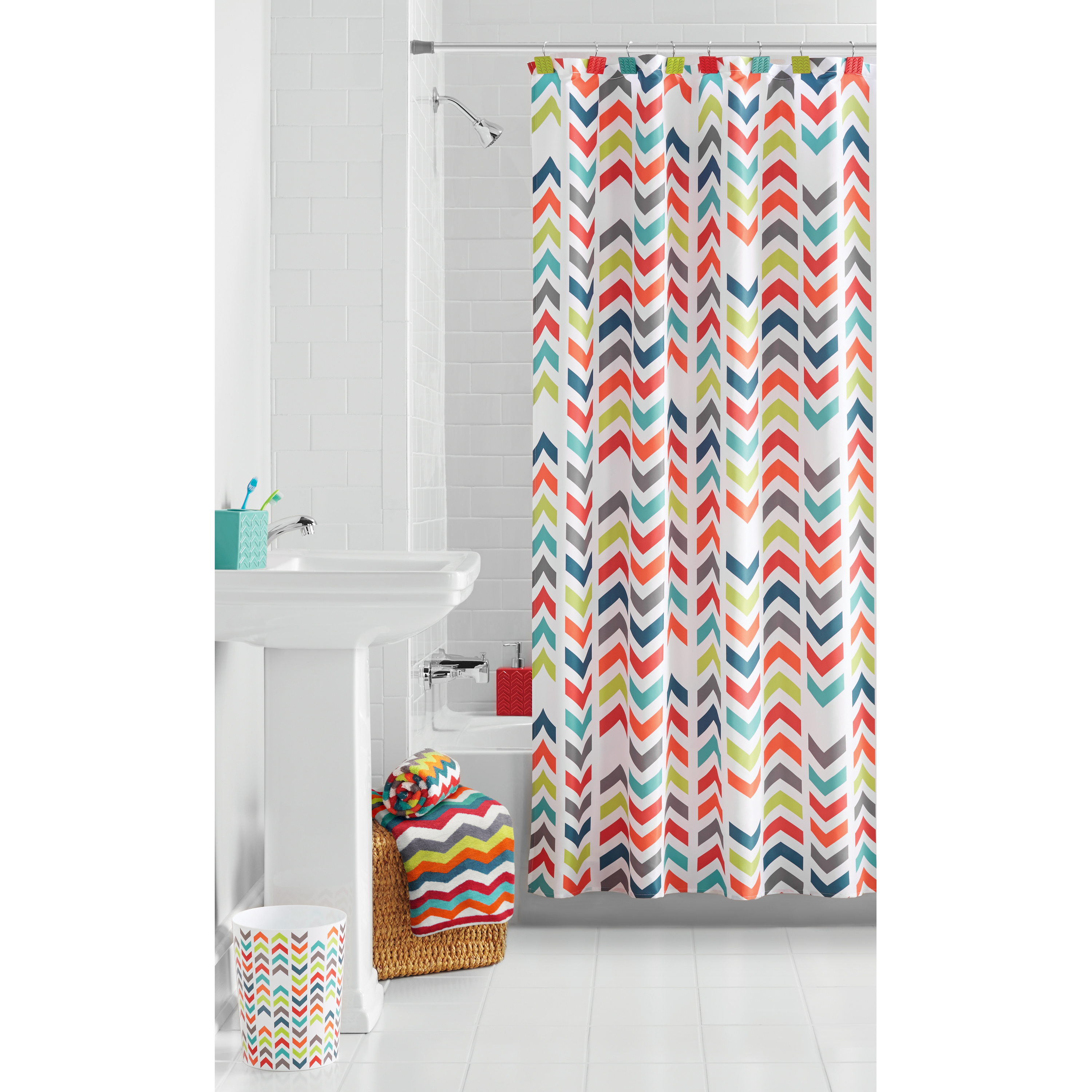 Mainstays Chevron Shower Curtain 1 Each