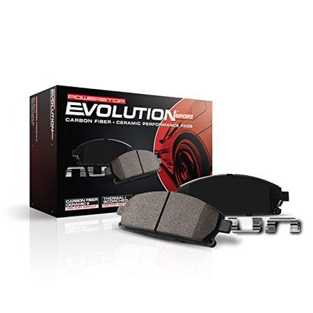 Power Stop Z23-1078 Z23 Evolution Sport Carbon Fiber-Ceramic Brake Pad -Front